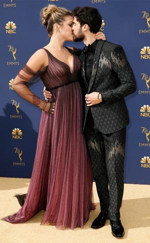 Darren Criss, Mia Swier, 2018 Emmys, 2018 Emmy Awards, Candids