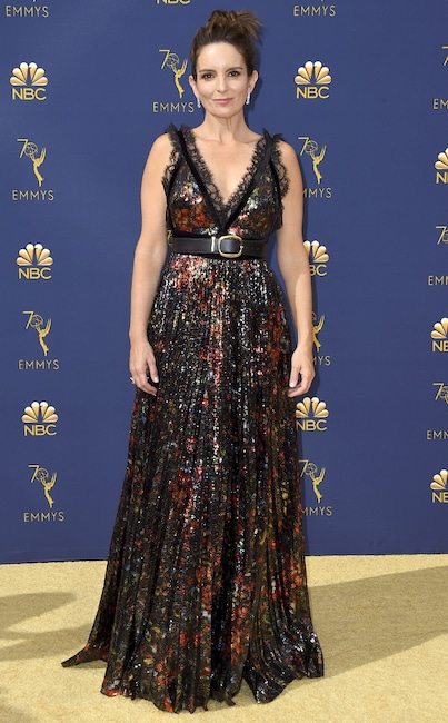 Tina Fey, 2018 Emmys, 2018 Emmy Awards, Red Carpet Fashions