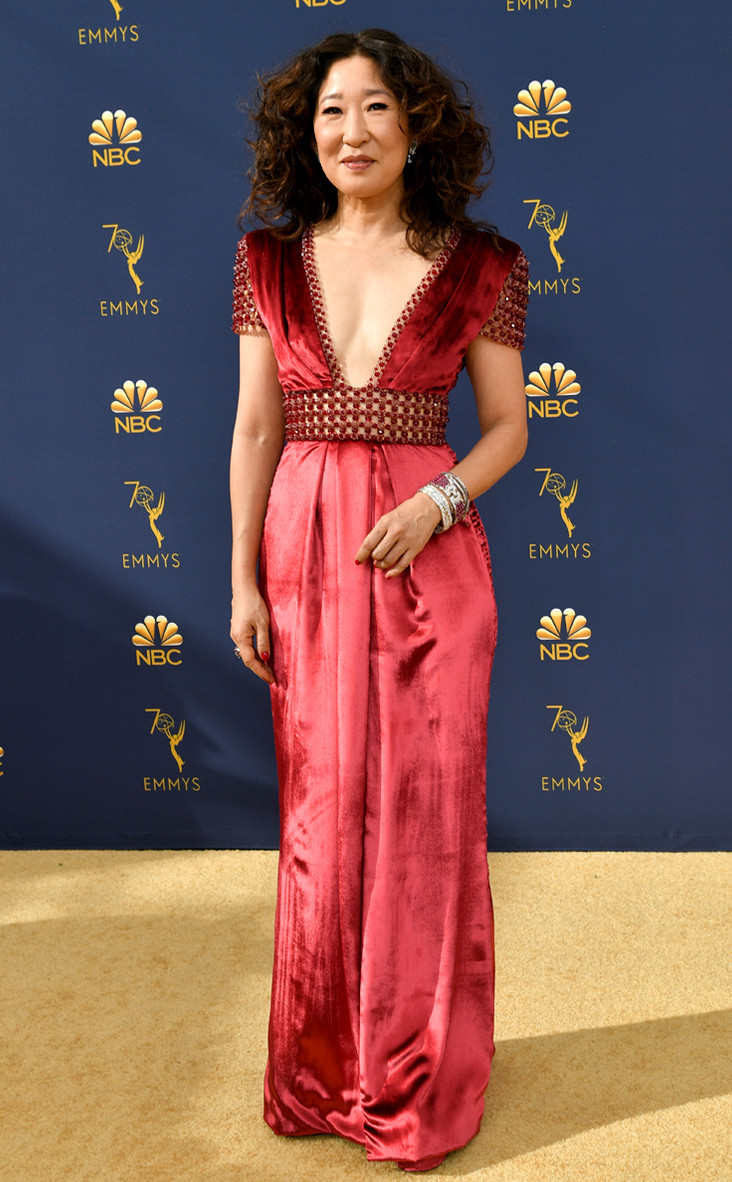 Sandra Oh, 2018 Emmys, 2018 Emmy Awards, Red Carpet Fashions
