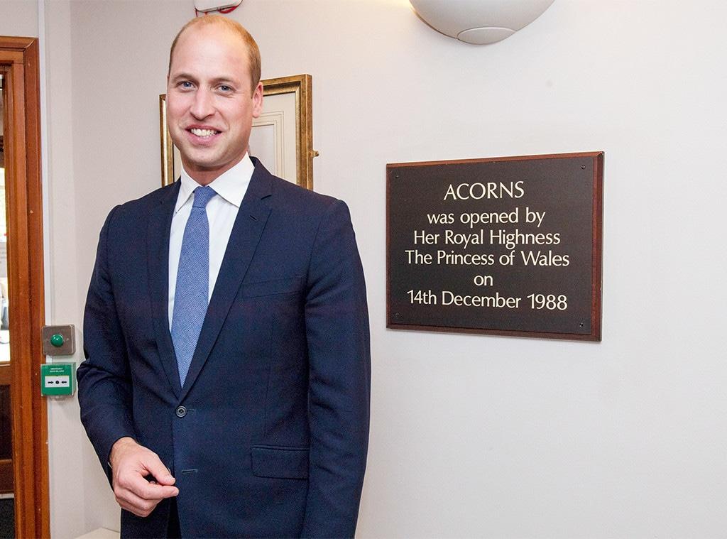Prince William, Acorns Children's Hospice