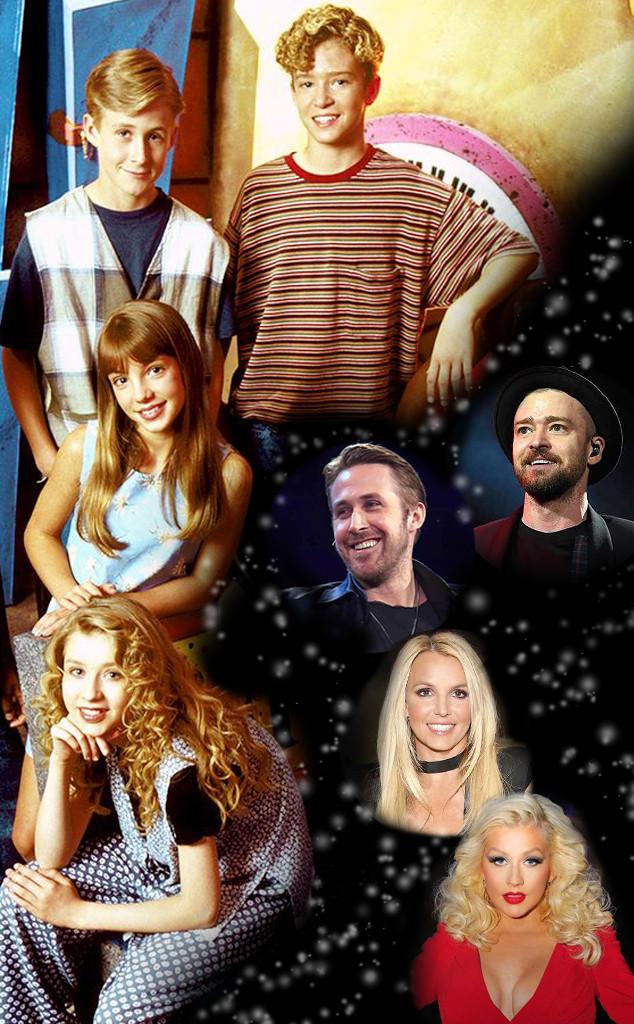 Mickey Mouse Club, Christina Aguilera, Britney Spears, Ryan Gosling, Justin Timberlake