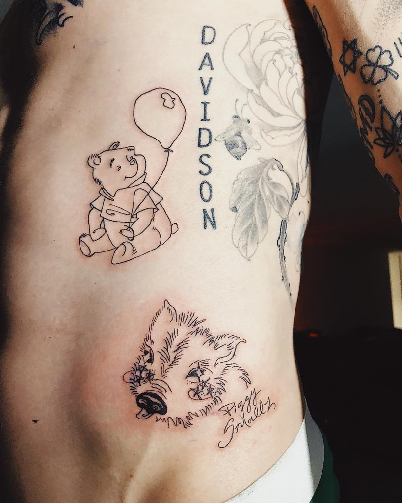 Pete Davidson Got a Tattoo of the Pig He and Ariana Grande ...