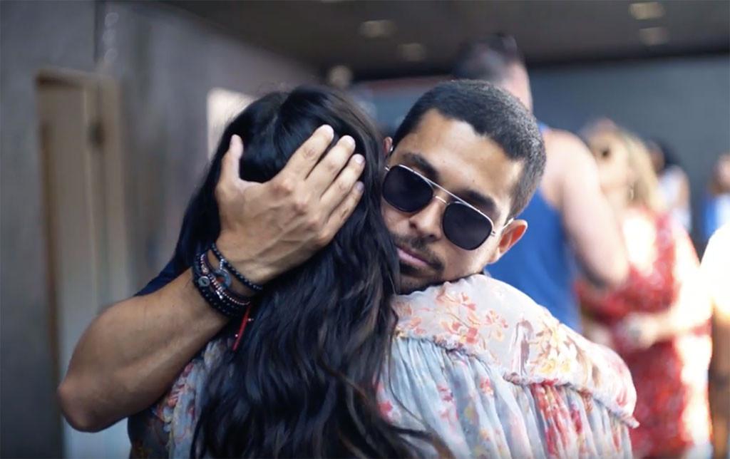 Wilmer Valderrama, Demi Lovato, Hug, Hugging