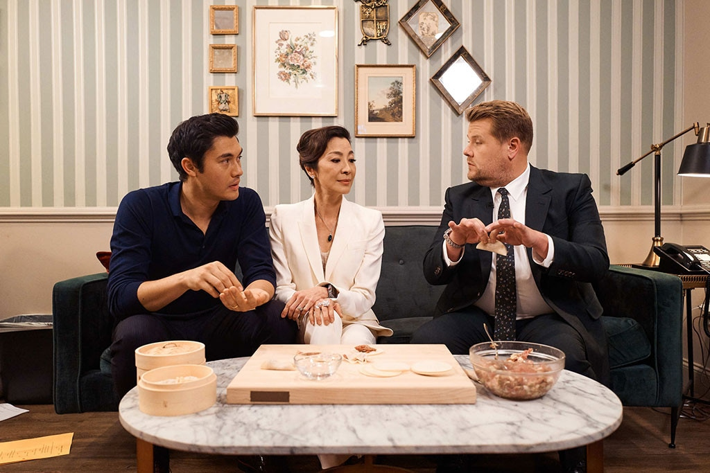 James Corden, Henry Golding, Michelle Yeoh, The Late Late Show