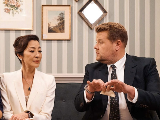 James Corden Can't Impress Henry Golding's Movie Mom Michelle Yeoh