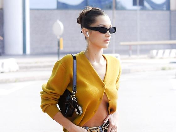 Bella Hadid Updates a Fall Sweater Trend From the '90s Hit <i>Jawbreaker</i>