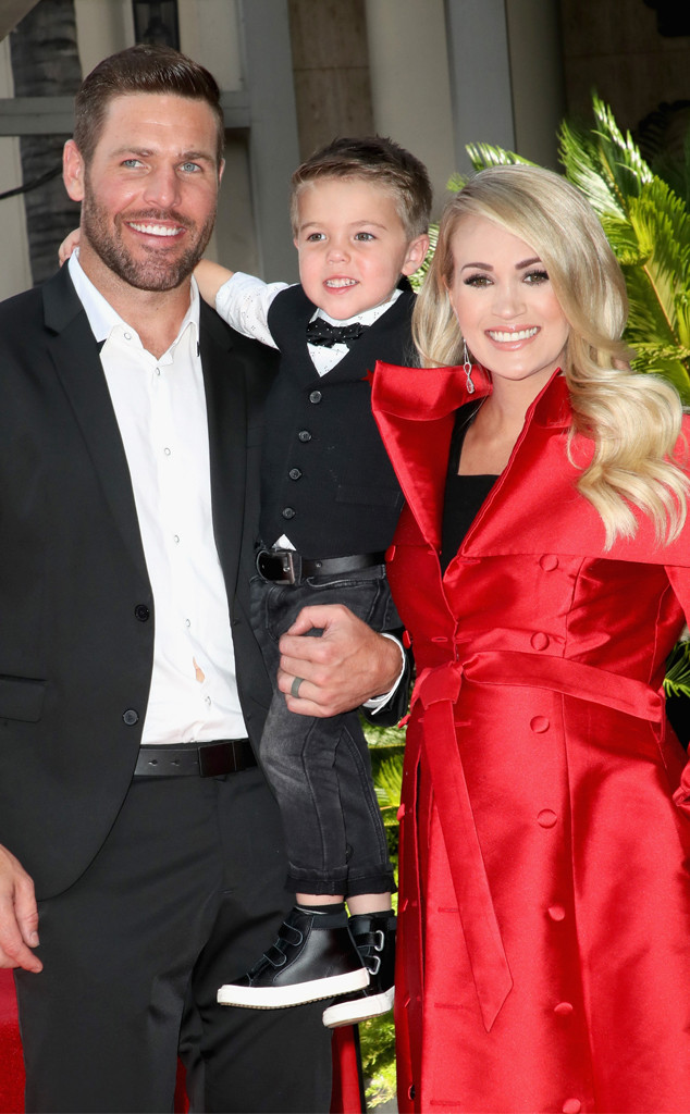 Carrie Underwood, Mike Fisher, Isaiah Fisher, Hollywood Walk of Fame