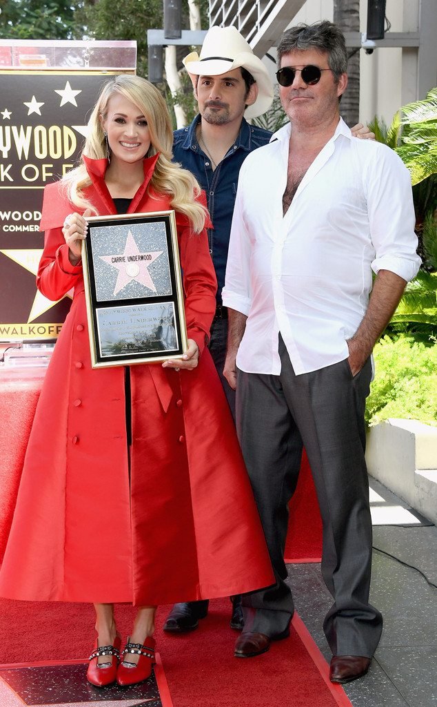Carrie Underwood, Brad Paisley, Simon Cowell, Hollywood Walk of Fame