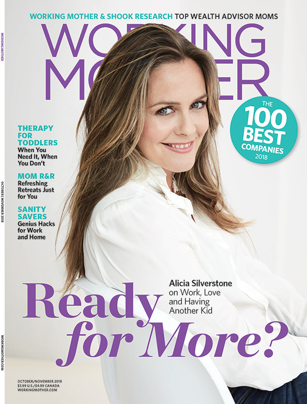 Alicia Silverstone, Working Mother Magazine