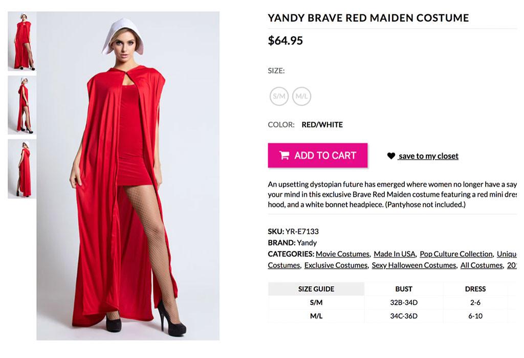 Yandy, Handmaid's Tale Costume