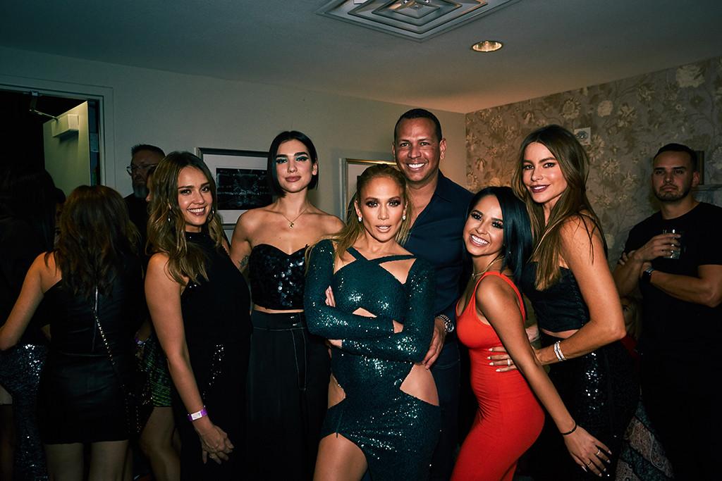 Jennifer Lopez, Las Vegas, Backstage, Jessica Alba, Dua Lipa, Alex Rodriguez, Sofia Vergara, Becky G