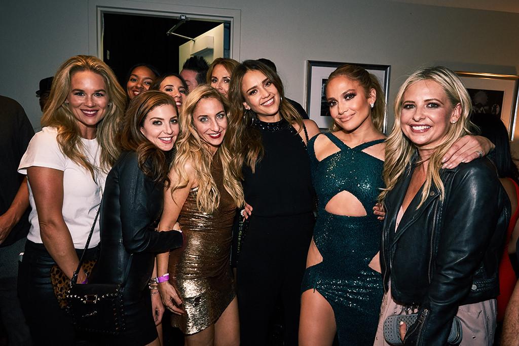 Jennifer Lopez, Las Vegas, Backstage, Jessica Alba, Sarah Michelle Gellar