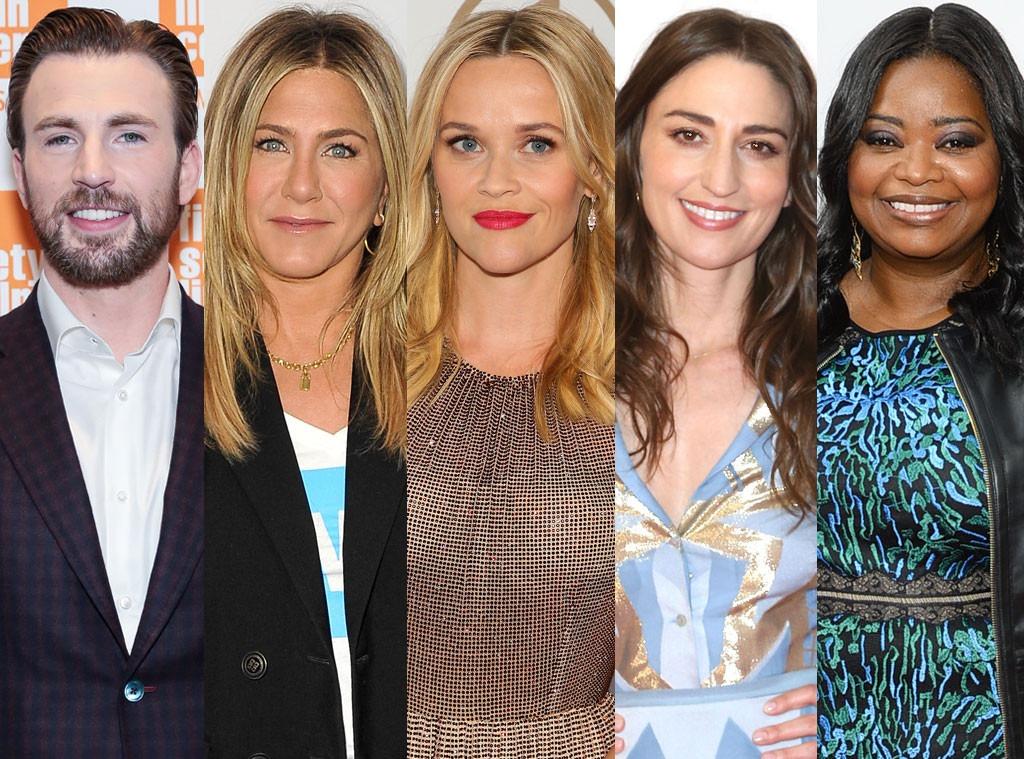 Chris Evans, Jennifer Aniston, Reese Witherspoon, Sara Bareilles, Octavia Spencer