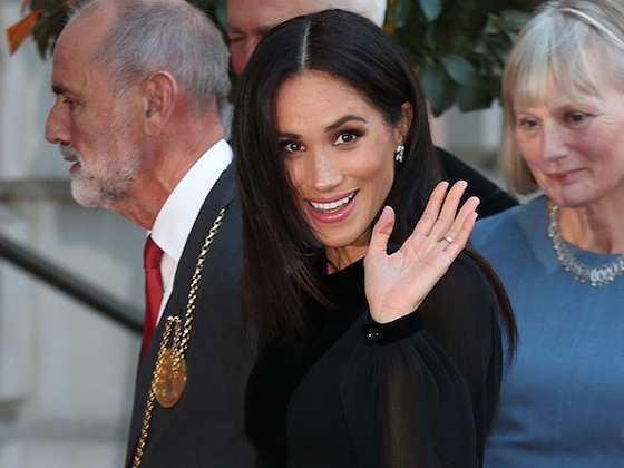 Meghan Markle Makes First Solo Royal Appearance at Art Exhibit Opening