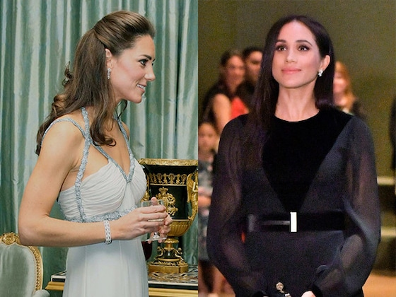 Comparing Meghan Markle and Kate Middleton's First Solo Outings as Royals