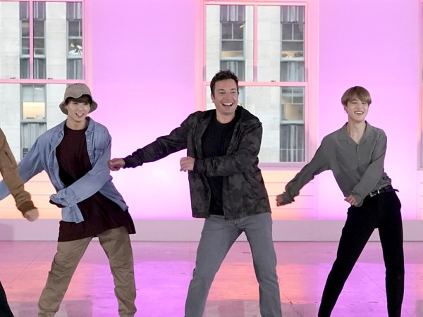 Watch BTS and Jimmy Fallon Do Their Best Rendition of the Fortnite Dance Challenge