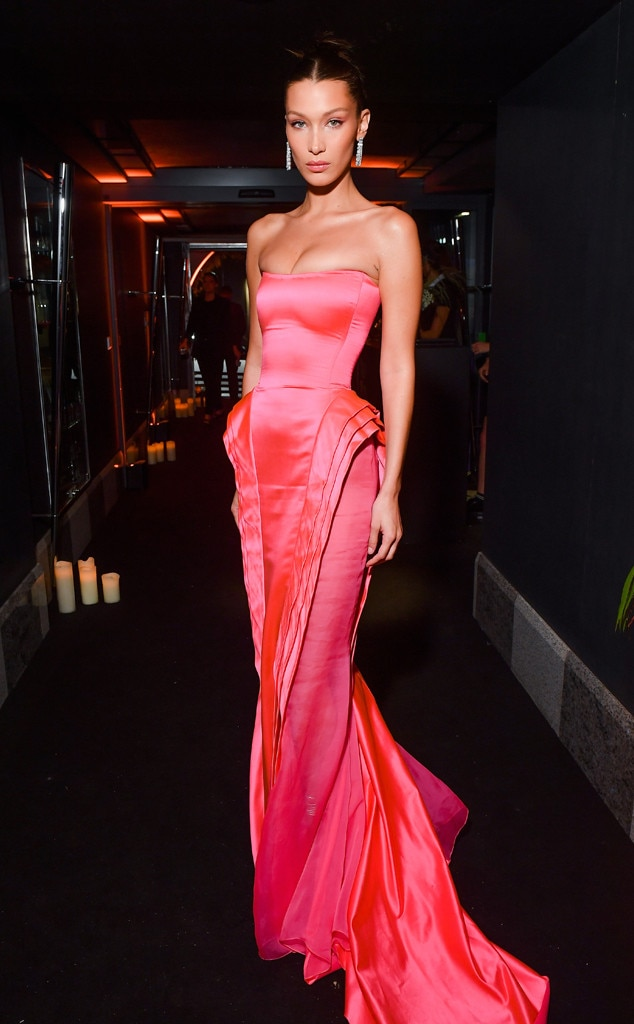 Pretty in Pink -  The model looks beautiful as she attends the Naked Heart France Gala during Paris Fashion Week.