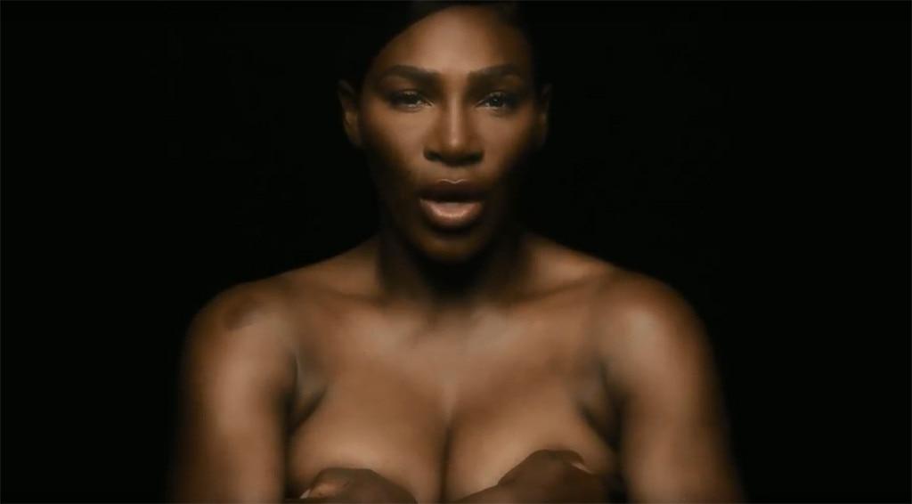 Brunette nude gets massage