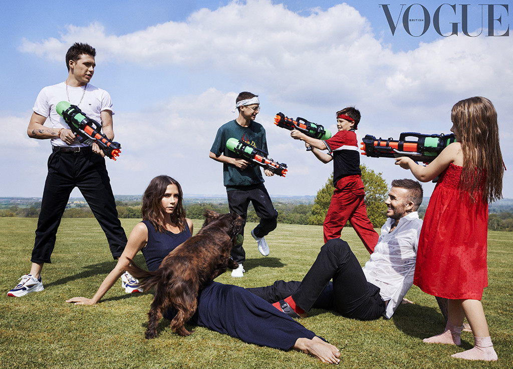 Victoria Beckham, Brooklyn Beckham, Cruz Beckham, Harper Beckham, Romeo Beckham, British Vogue October 2018