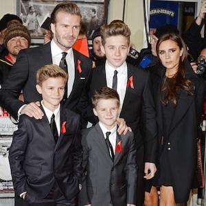 David Beckham, Brooklyn Beckham, Cruz Beckham, Romeo Beckham, Victoria Beckham, 2013