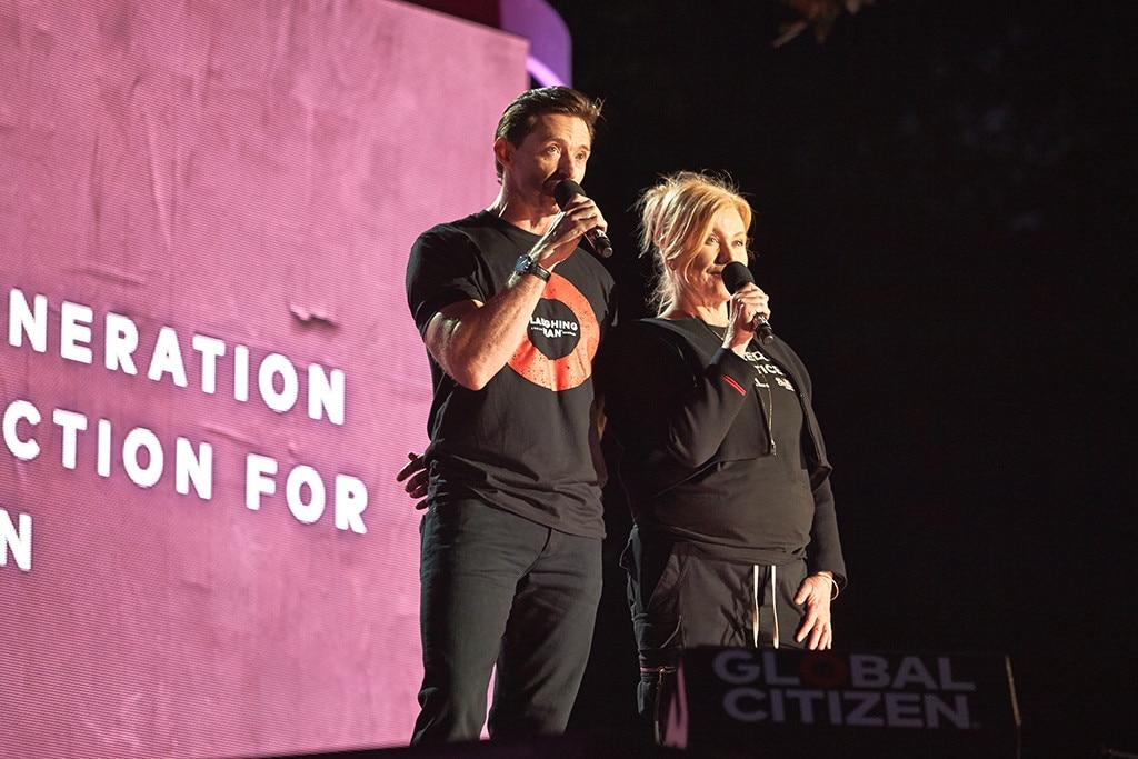 Hugh Jackman, Deborra-Lee Furness, Global Citizen Festival 2018