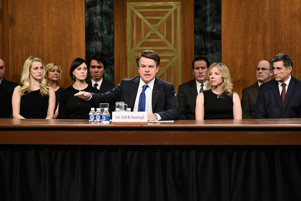 Matt Damon, Brett Kavanaugh, SNL