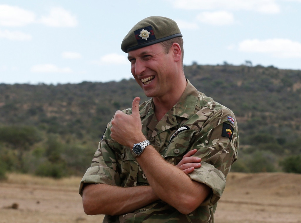 Prince William visits British troops in Kenya, trains with them