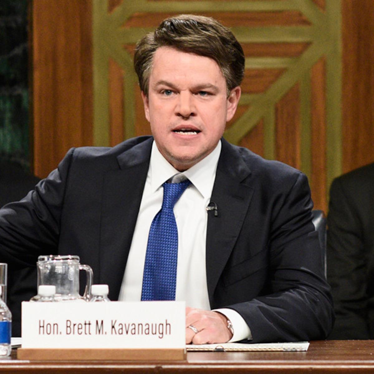 Matt Damon Makes Surprise Appearance as Brett Kavanaugh on SNL - E! Online