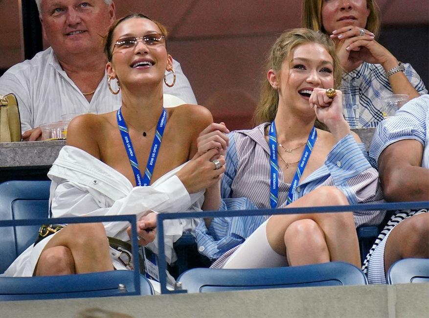 Bella Hadid, Gigi Hadid, U.S. Open