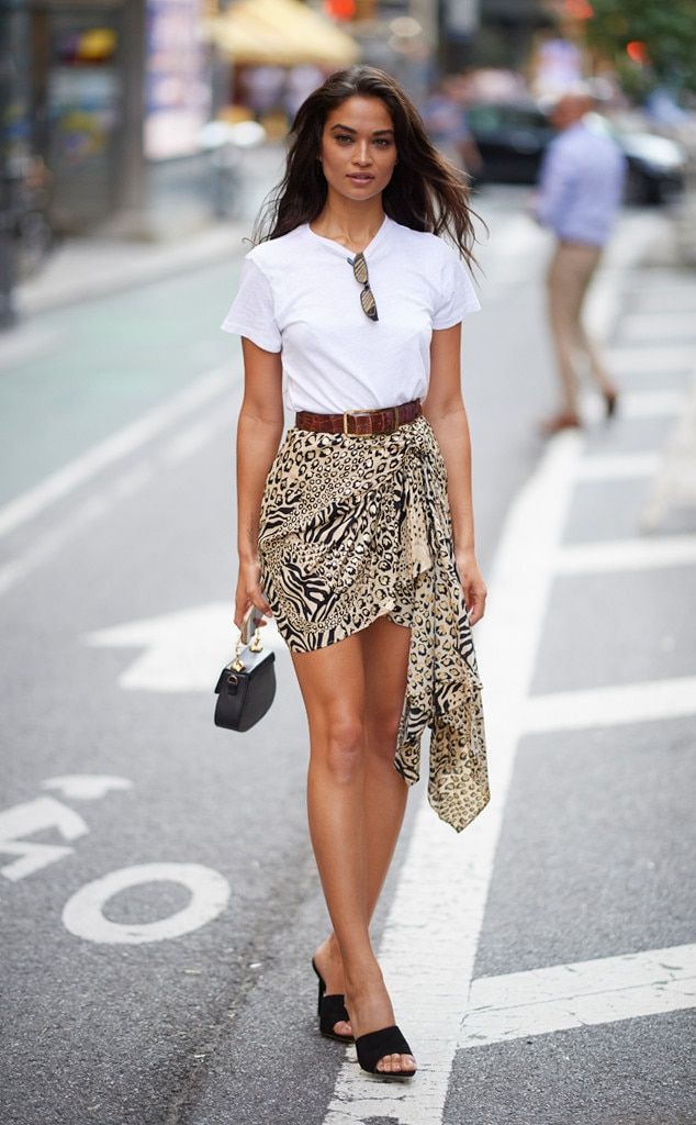 Shanina Shaik From Best Celeb Street Style From New York Fashion Week Spring 2019 | E! News