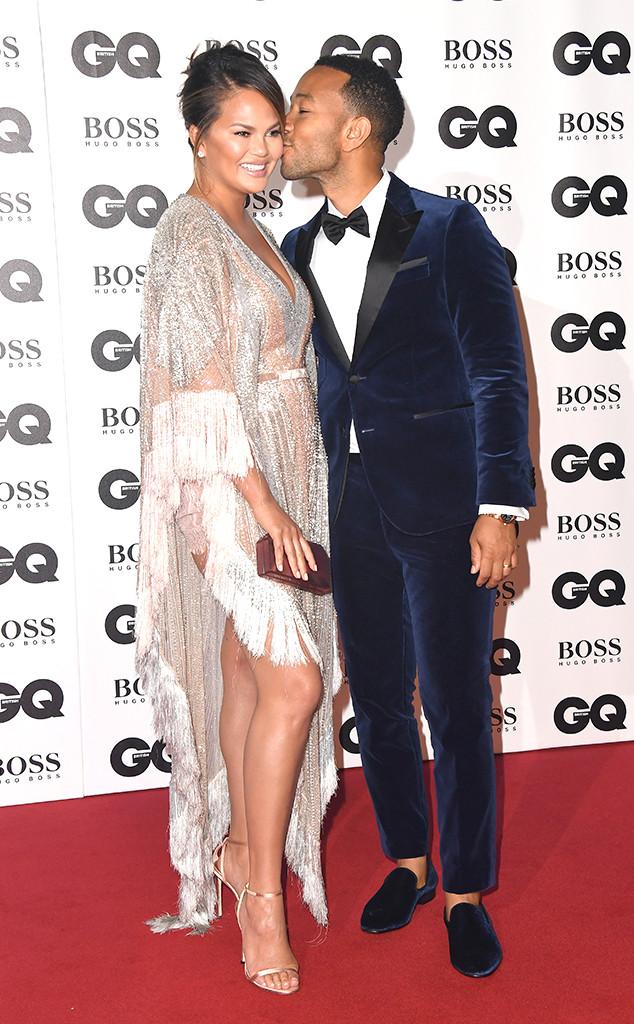 Chrissy Teigen, John Legend, 2018 GQ British Awards