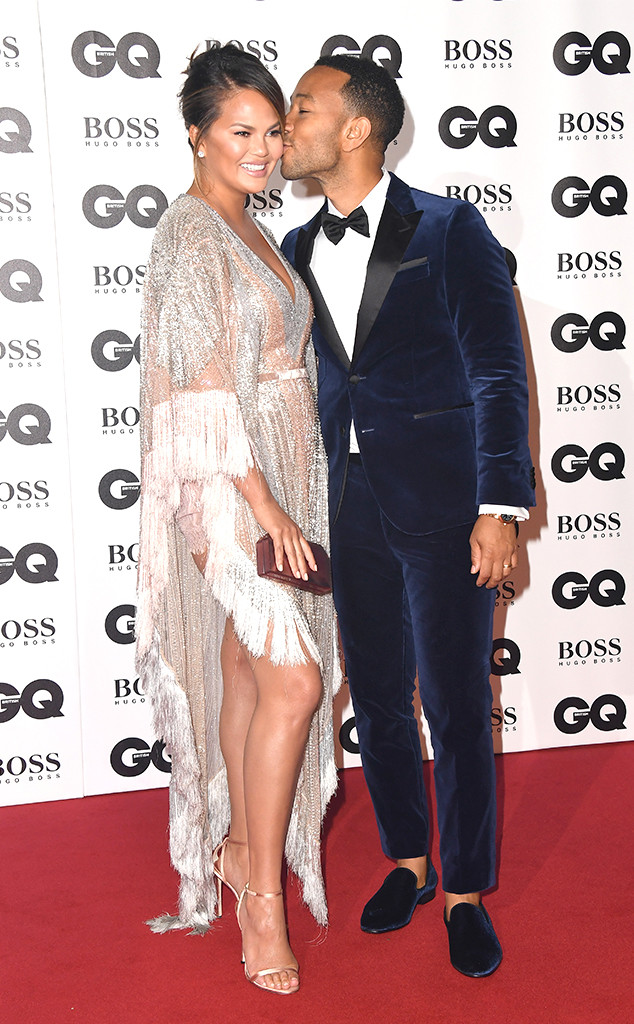 Chrissy Teigen, John Legend, 2018 GQ British Awards