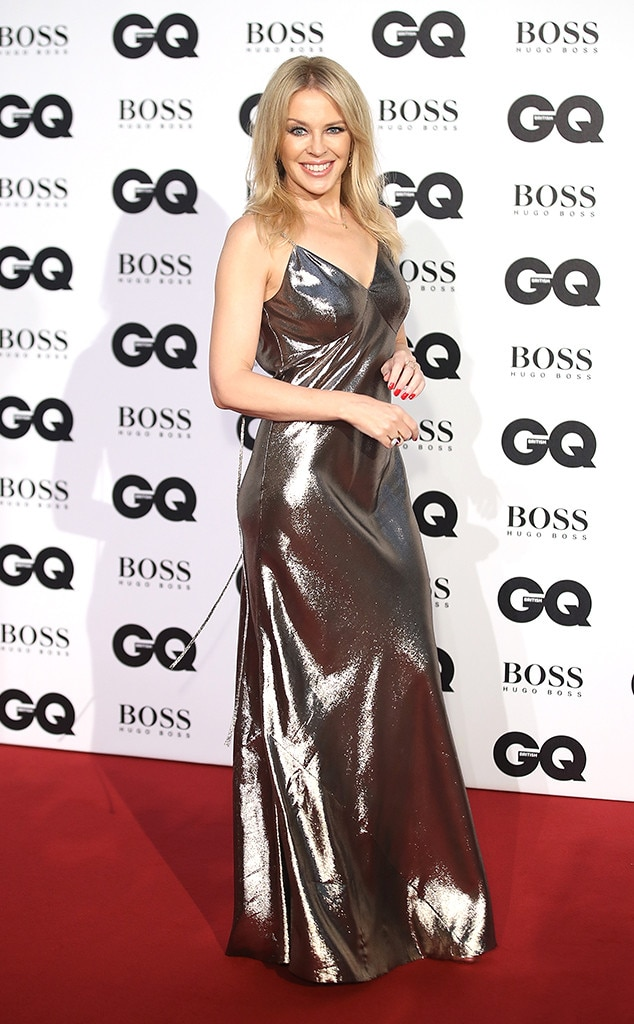 Kylie Minogue -  The singer stunned in a silver gown.