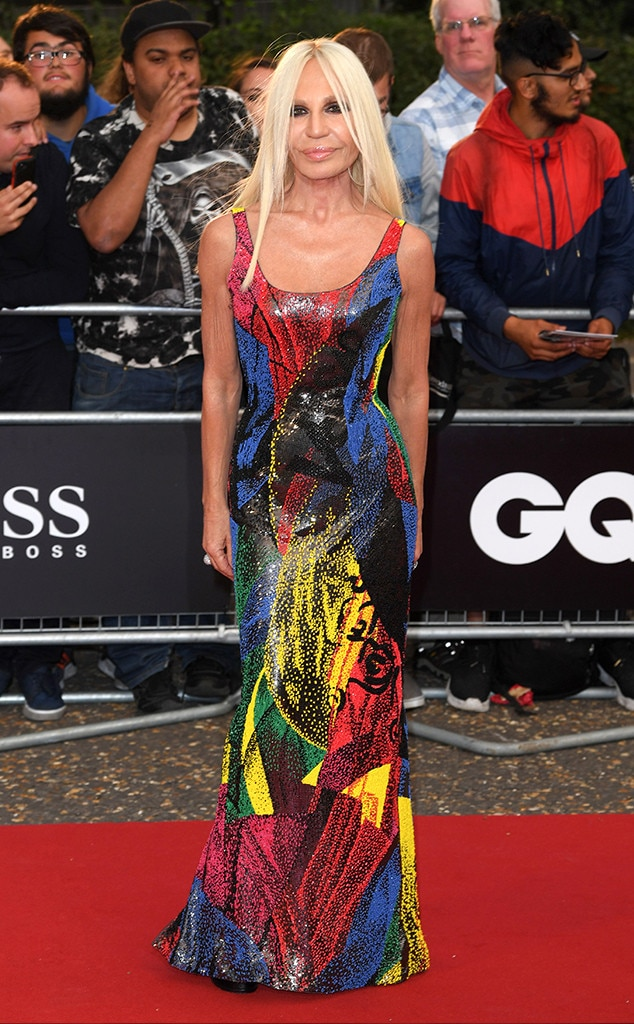Donatella Versace -  The fashion designer stunned in acolorful gown.