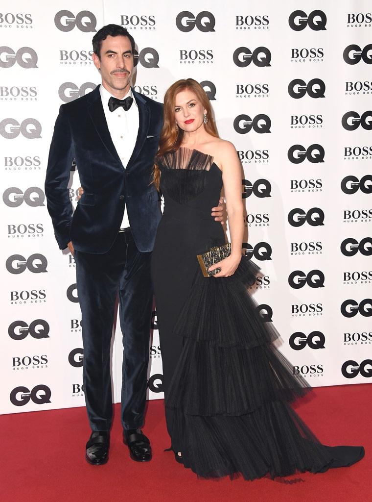 Sacha Baron Cohen, Isla Fisher, 2018 GQ British Awards