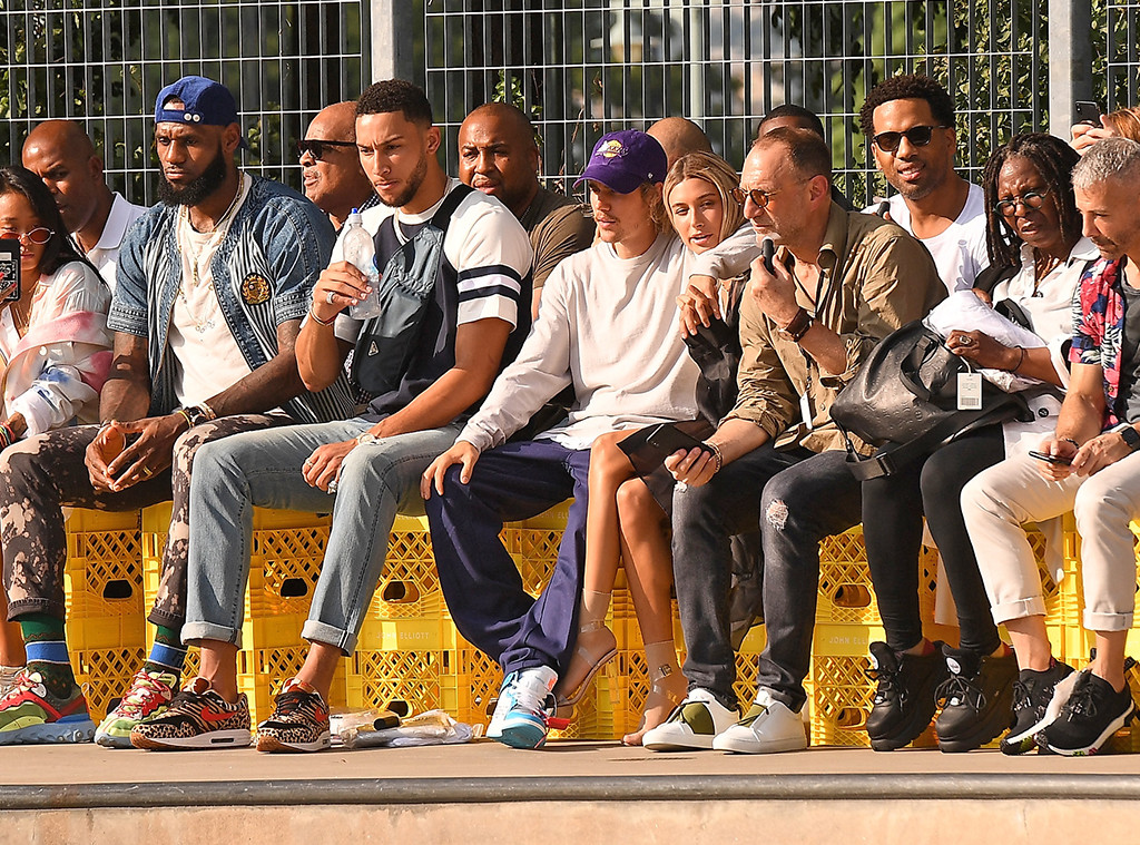 LeBron James, Ben Simmons, Justin Bieber, Hailey Baldwin, Whoopi Goldberg, John Elliot NYFW