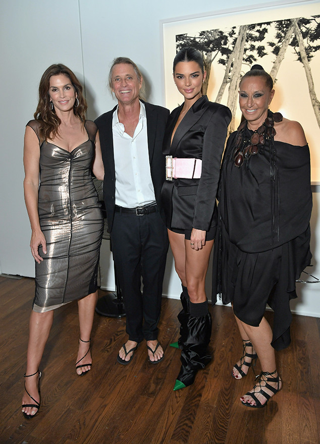 Cindy Crawford, Russell James, Kendall Jenner, Donna Karan