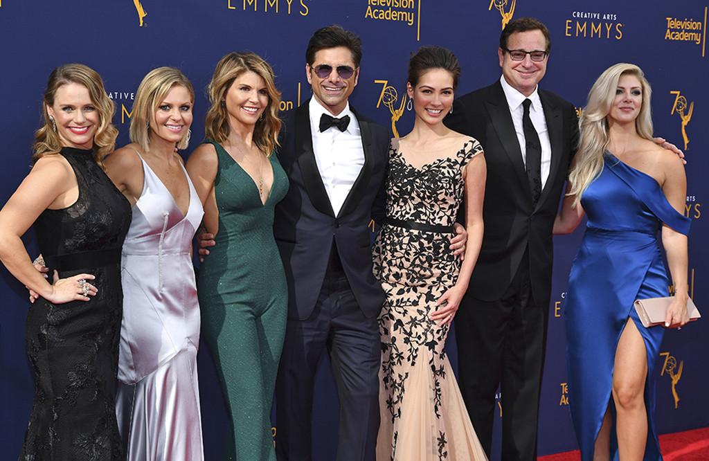 Andrea Barber, Candace Cameron Bure, Lori Loughlin, John Stamos, Caitlin McHugh, Bob Saget, 2018 Creative Arts Emmy Awards