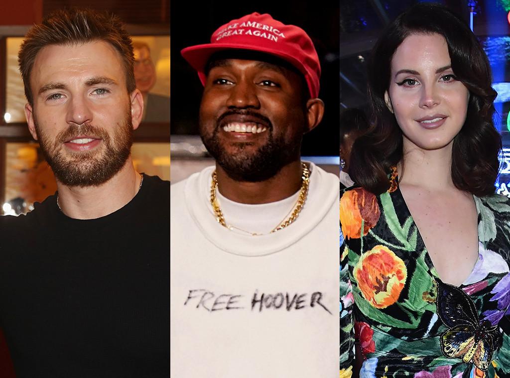 Chris Evans, Kanye West, Lana Del Rey