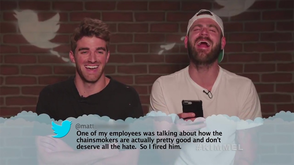 The Chainsmokers from Celebrity Mean Tweets From Jimmy ...