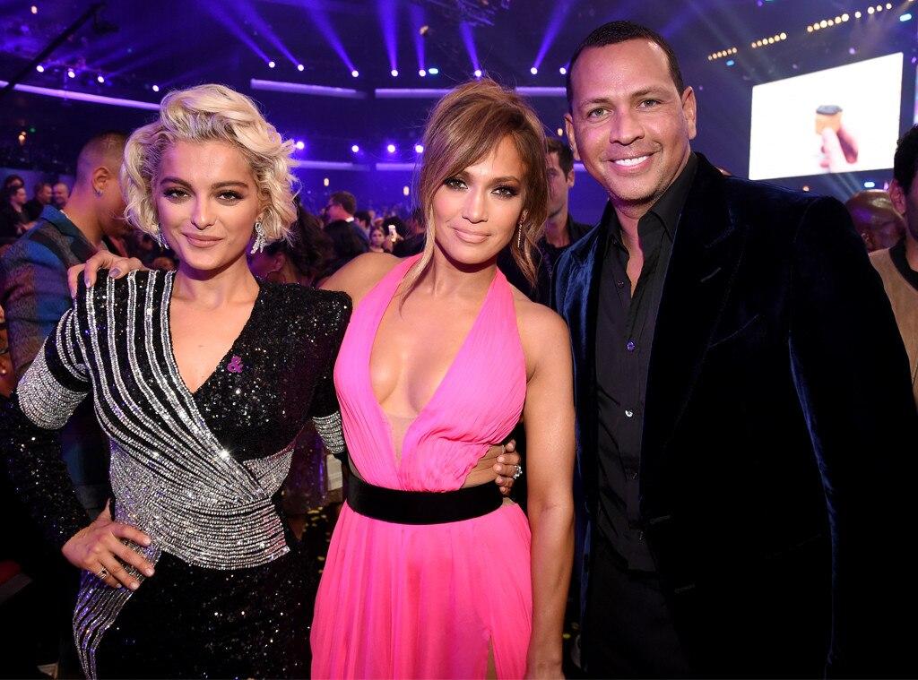 Bebe Rexha, Jennifer Lopez, Alex Rodriguez, 2018 American Music Awards