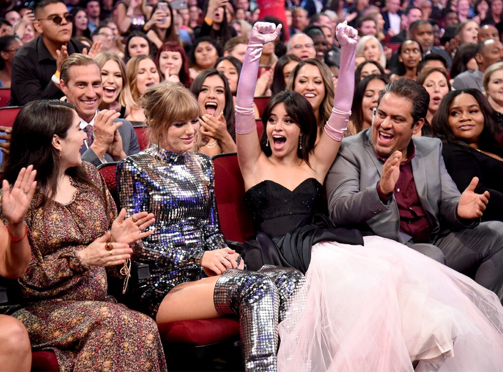 Taylor Swift Camila Cabello From American Music Awards 2018 Candid
