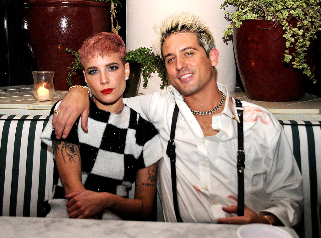 "G-Eazy, Halsey, American Music Awards Party post Malones 2018 ""data-width ="" 1024 ""data-height ="" 759"