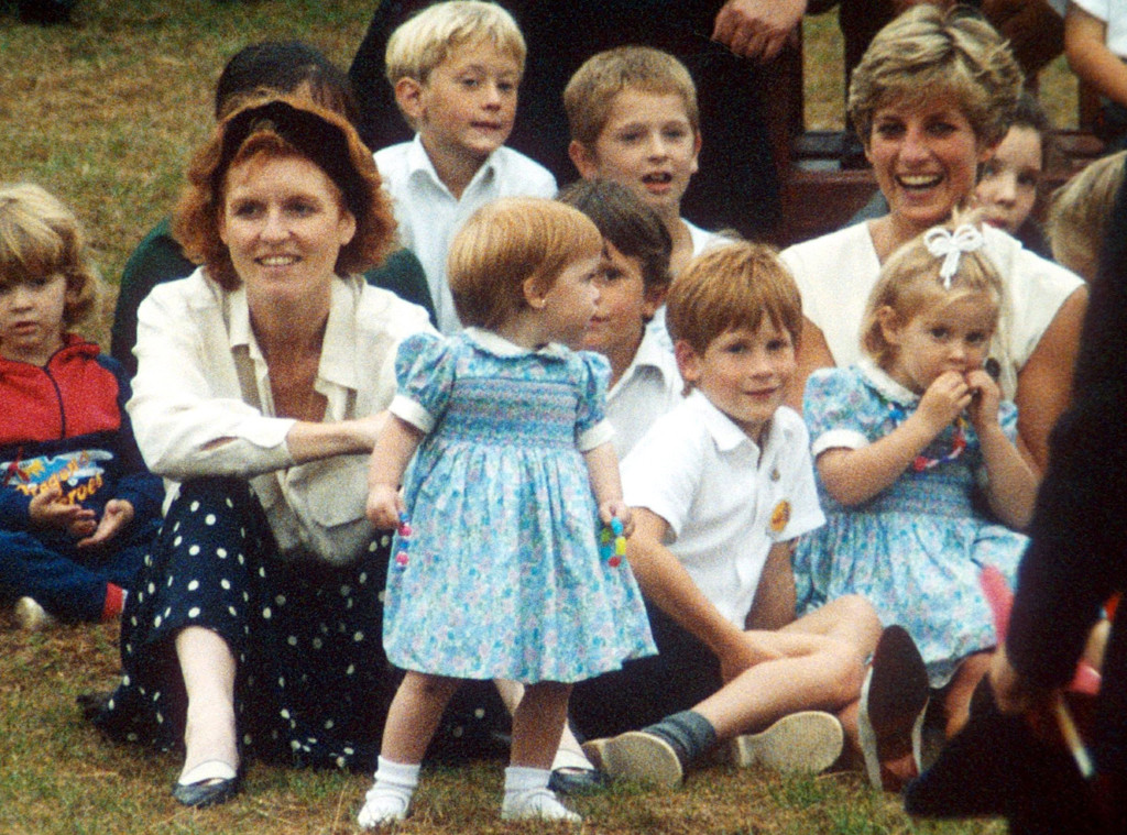 Prince Harry, Princess Eugenie, Sarah Ferguson, Princess Diana