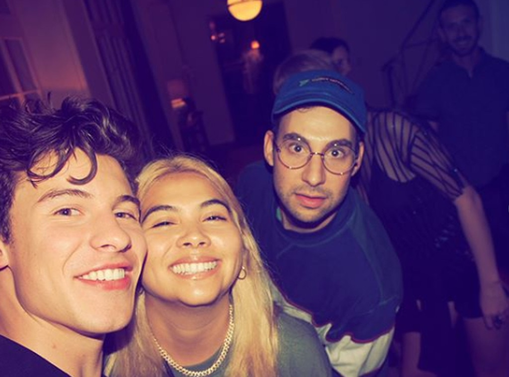 Three's Company -  Shawn Mendes, Hayley Kiyoko and Jack Antonoff posed for a cheeky photo at the A-list event.