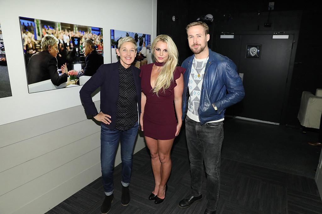 Britney Spears, Ryan Gosling, The Ellen DeGeneres Show