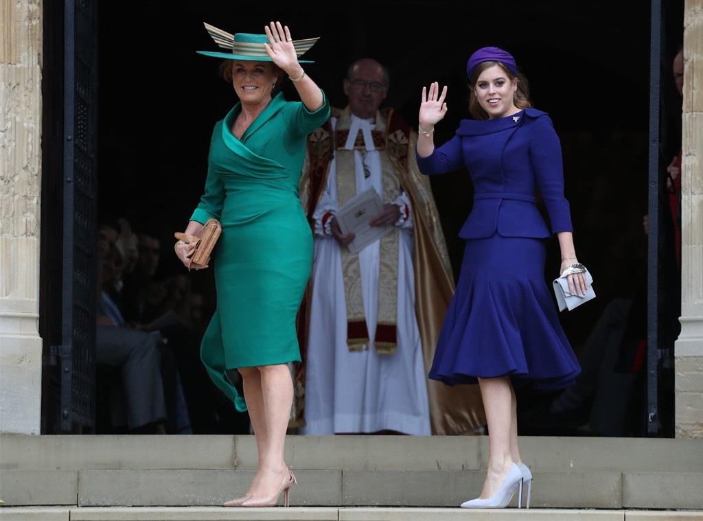 Sarah Ferguson, Princess Beatrice, Princess Eugenie Royal Wedding