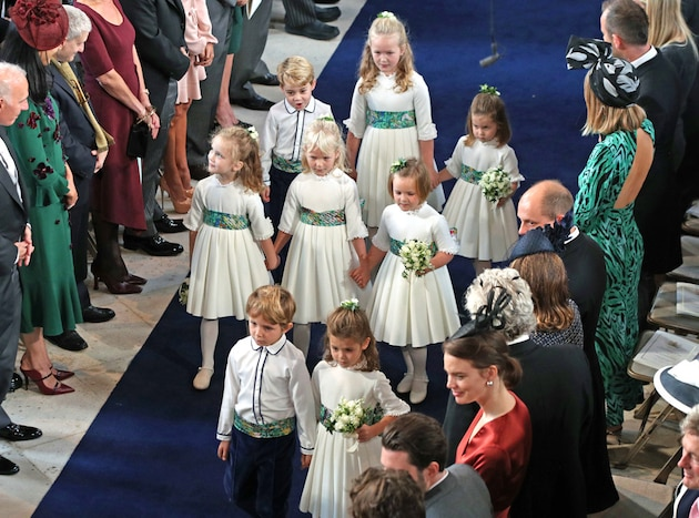Charlotte was one of six bridesmaids and Prince George was one of two page boys. Yui Mok/PA Wire