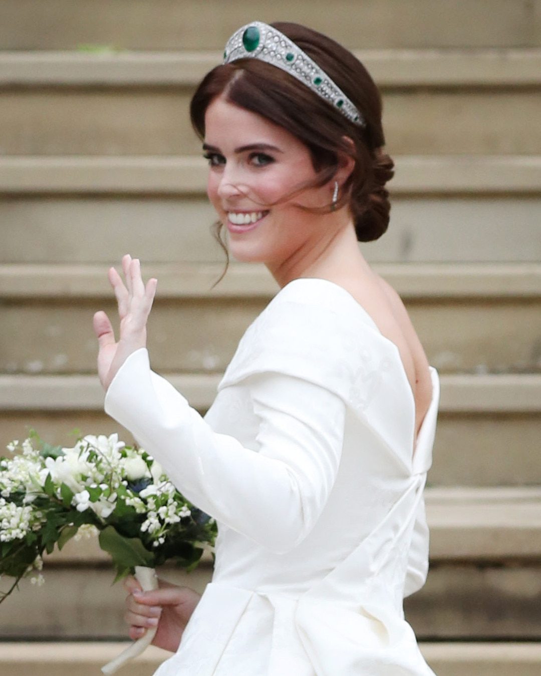 Princess Eugenie -  In October, Princess Eugenie married Jack Brooksbank in a  stunning wedding dress  designed by Peter Pilotto and Christopher De Vos, who founded the British based label Peter Pilotto.