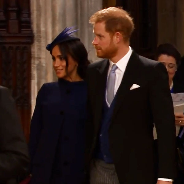 Royal tour: First glimpse of Meghan's baby bump